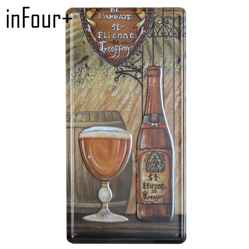 [inFour+] New Two Wine Plate Metal Plate Car Number Tin Sign Bar Pub Cafe Home Decor Metal Sign Garage Painting Plaques Sign