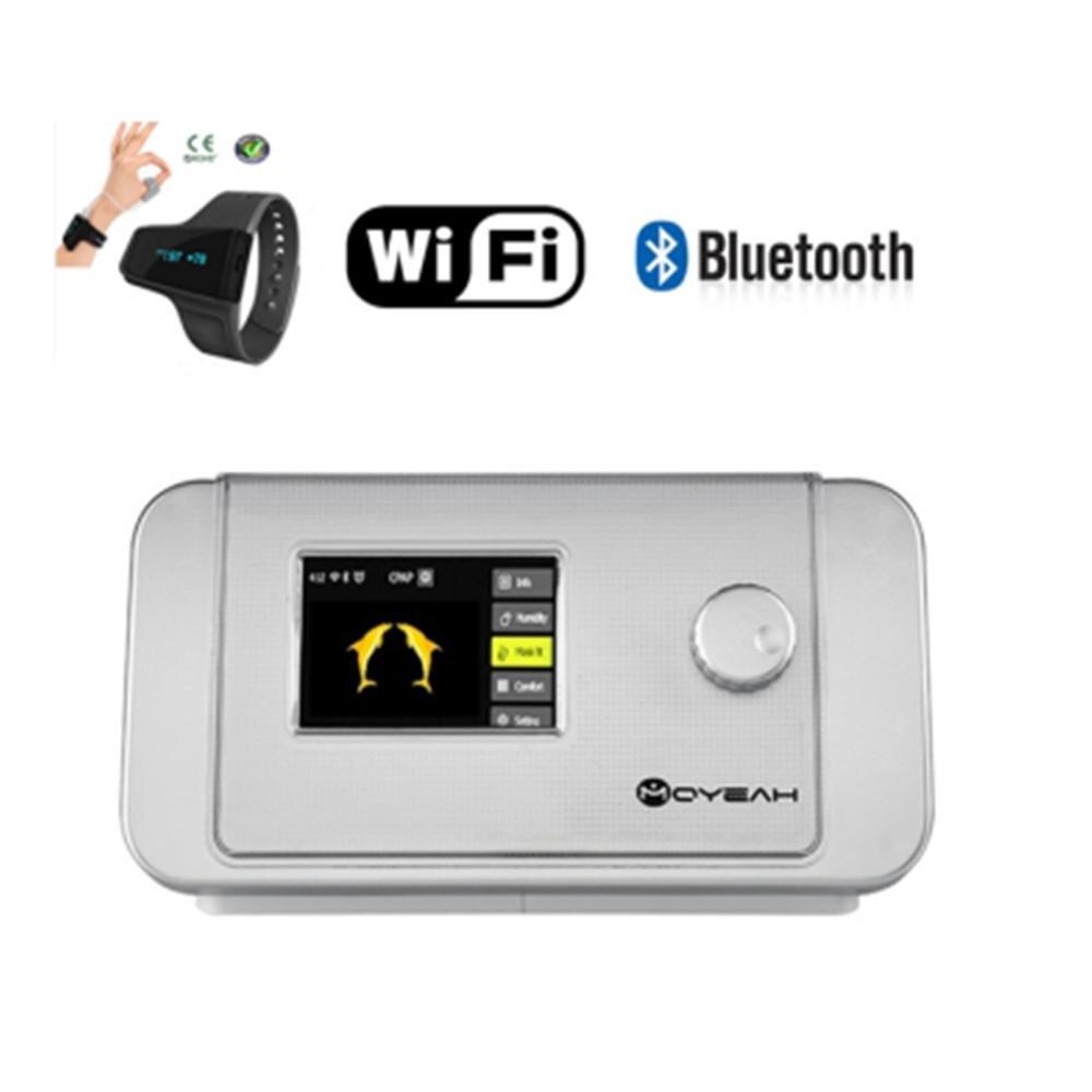 MOYEAH Macchina Bipap CPAP T-25A Medical Equipment la Macchina Con Anti Russare Aiuti di Sonno Orologio E Wifi Internet Collegato