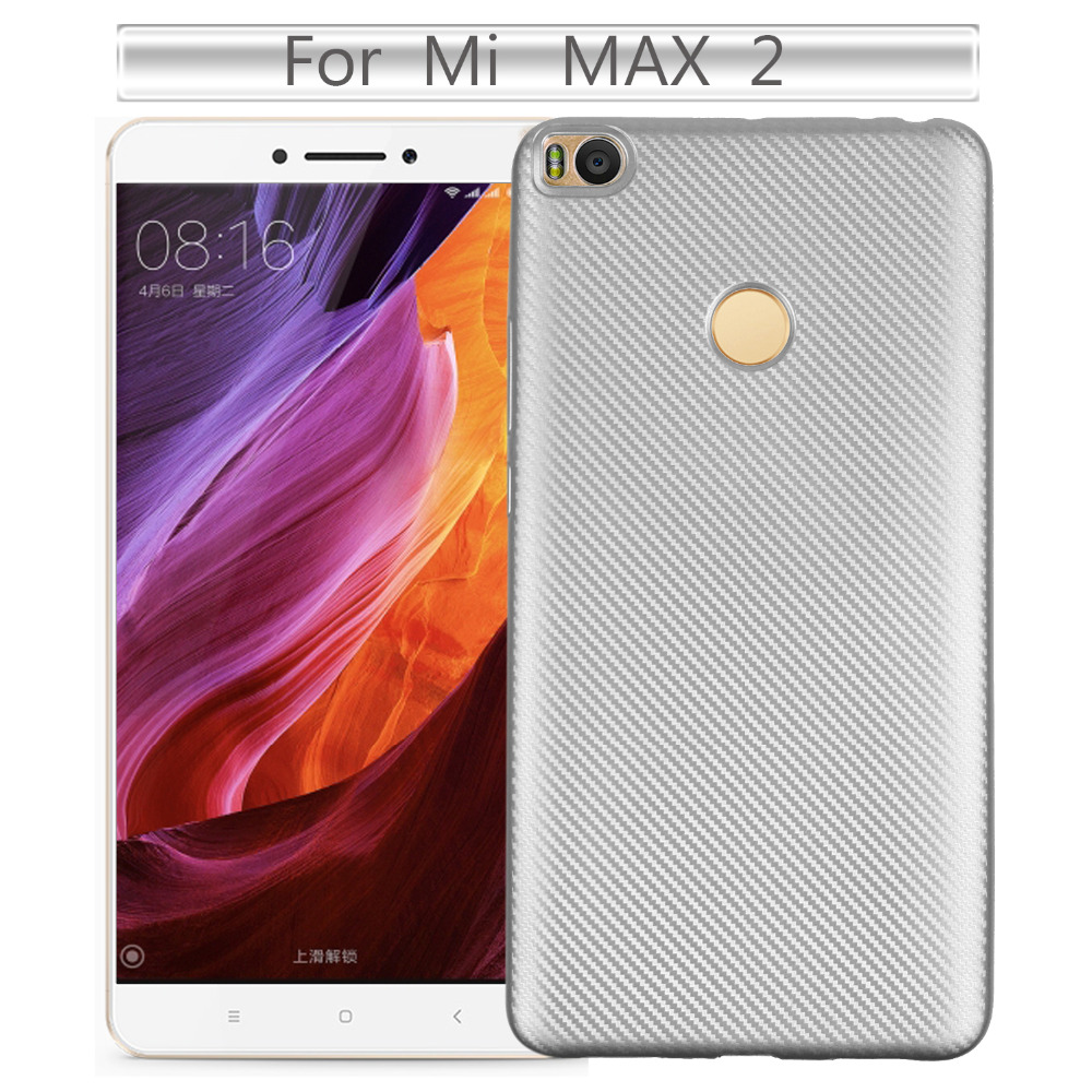 Phone Cases For Xiaomi Mi Max 2 Case Cover for Mi Max2 Luxury Carbon Fiber Soft Cover For Xiaomi Mi Max 2 Back Cover Phone Case in Fitted Cases from Cellphones Telecommunications
