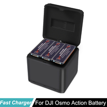dji osmo action Battery fast charger for DJI OSMO Action Camera QC3.0 charge box