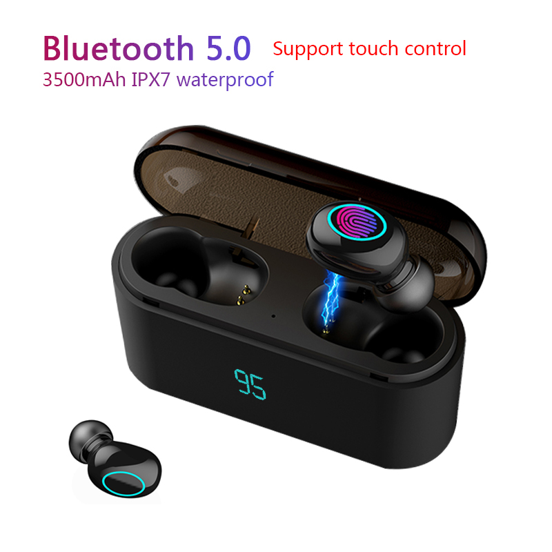 Tws Wireless Bluetooth Earphone 5.0 TWS Stereo Bluetooth Earphones With 3500mAh Charging Box Earbuds IXP5 Waterproof Headset