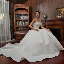 Elegant Sheer Wedding Dresses Robe De Mariage Strapless