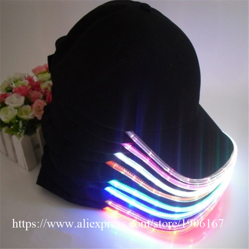 Fashion LED Light Up Baseball Caps Luminous Party Stage Dacne Wear Hat Camping Travel Sport Headwear DHL Free Shipping