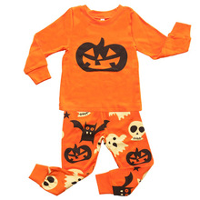 Pumpkin Halloween Clothes For Children Winter Autumn 2018 Monster 2 3 4 5 6 7Y Long Sleeve Top+pants Tracksuit Kids