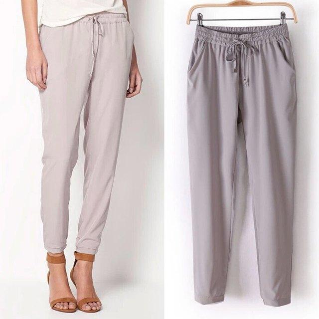 2016 New casual Summer Women Pants Chiffon Elastic Waist Rainbow Harem Pants Women's Trousers