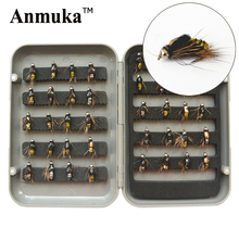 A9 dry fly lures 4 flies fishing bait 1.5cm worm hook plastic box pesca Fishing Tackle