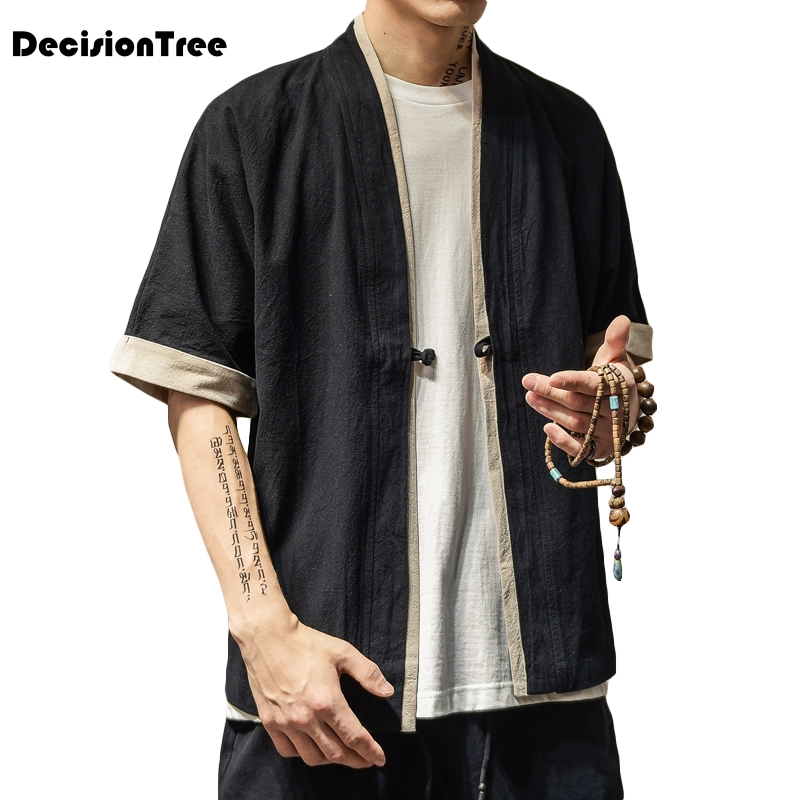 2019 men loose cardigan japanese kimono stripe coat high street hip hop casual outerwear men kimono japanese harajuku cardigan