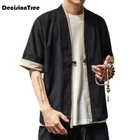 2019 new men loose cardigan japanese kimono stripe coat high street hip hop casual outerwear men kimono japanese harajuku