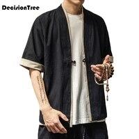 2019 summer men loose cardigan japanese kimono stripe coat high street hip hop casual outerwear men kimono japanese harajuku