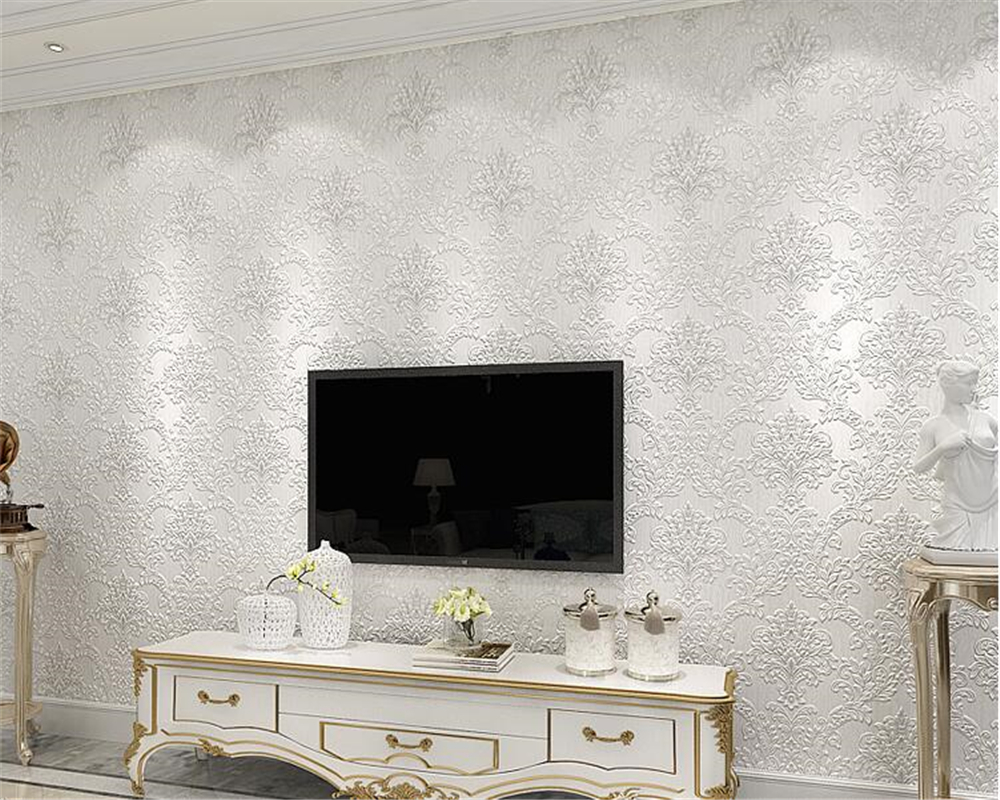 beibehang Luxury 3D embossed wallpaper European style bedroom papel de parede 3d wallpaper living room TV background wall tapety beibehang european luxury papel de parede 3d wall paper roll embossed flocking living room tv background wallpaper for walls 3 d