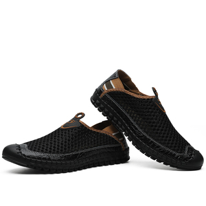 Image 5 - New Mens Casual Shoes Summer Breathable Mesh Mens Shoes Men Fashion Loafers Soft Comfortable Flats Zapatos Hombre  Size 38 48