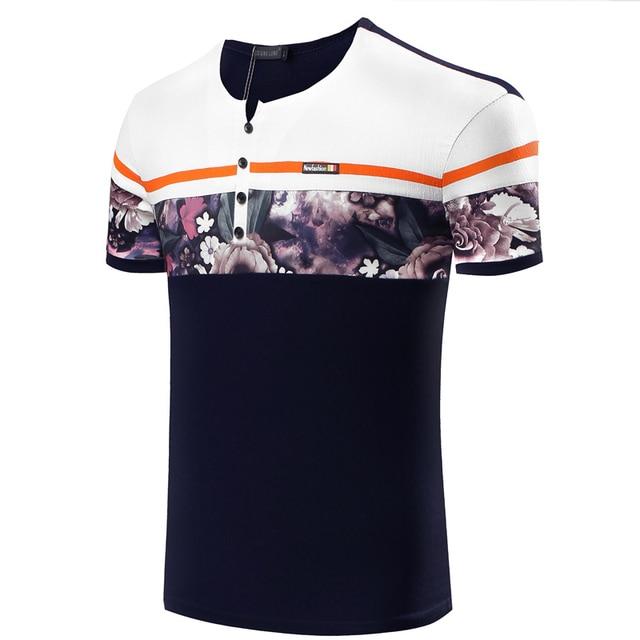 2d23cec613 Los hombres de verano estampado de flores de moda polo camisa de polo de  algodón 100
