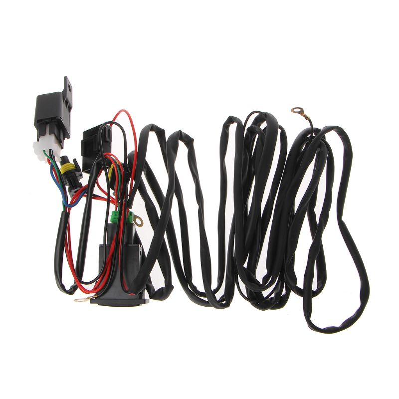 US $7.45 26% OFF|Universal 12V 40A Relay Wiring Harness With On/Off on car suspension kits, drag car wiring kits, car gauge kits, car frame kits, car lights kits, painless wiring kits,
