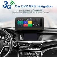 VEHEMO Автомобильный gps dvd плеер HD 1080 P 3g видео сенсорный экран DVR gps навигатор 5,0 дюймов 6,86 двойная камера 3g HD g сенсор FM