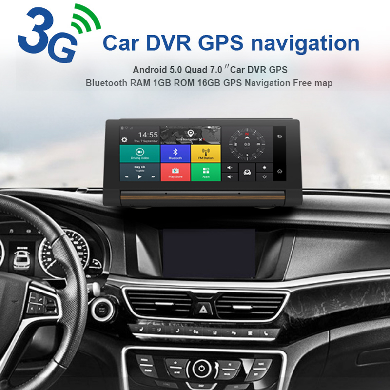VEHEMO Car GPS DVD Player HD 1080P 3G Video Touch Screen DVR GPS Navigator 6.86 Inch 5.0 Double Camera 3G HD G-Sensor FM intro gps 3g