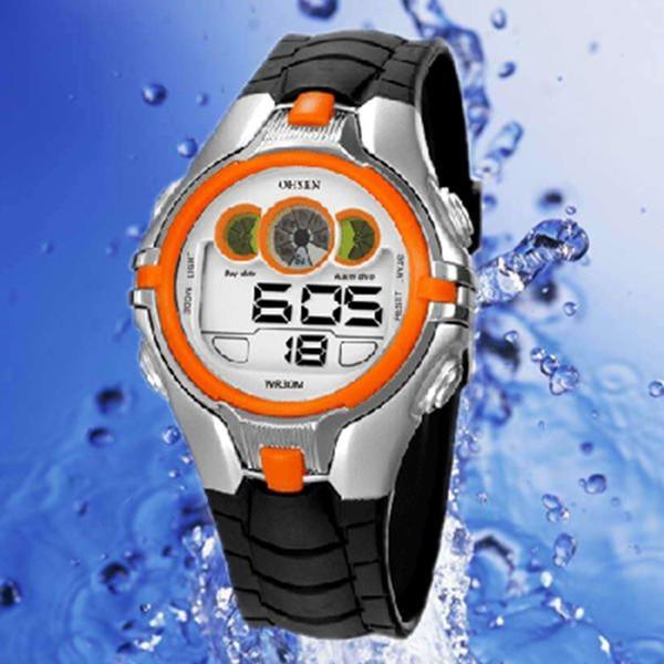 Free Shipping OHSEN Children's Boys LED Digital Sport Watches Multifunctional Waterproof Quartz Wrist Watches Relogio Backlit