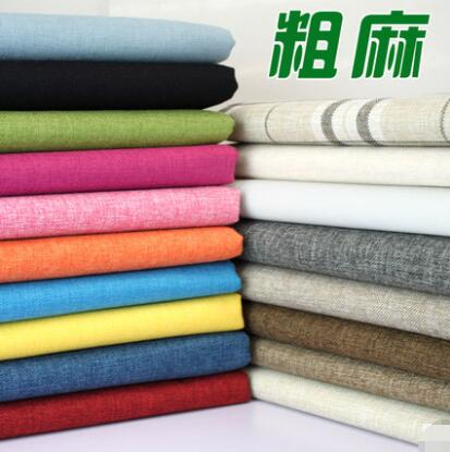 Coated Linen Fabric Sofa Cushion Fabirc DIY Craft Sewing Cloth Outdoor Linen Blend Fabric Upholstery 58 Wide per Yard Light Brown