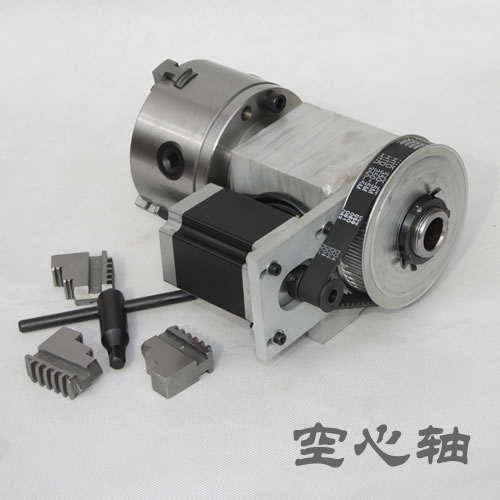 engraving machine fourth axis A shaft rotating shaft CNC dividing head K12 100mm four jaw chuck for cnc router 1pcs
