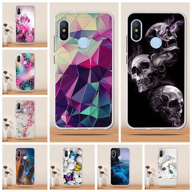 d85568bbed2 For Xiaomi Redmi 6 Pro Case Cover Silicone 3D Tpu Phone Case For xiaomi Mi  A2