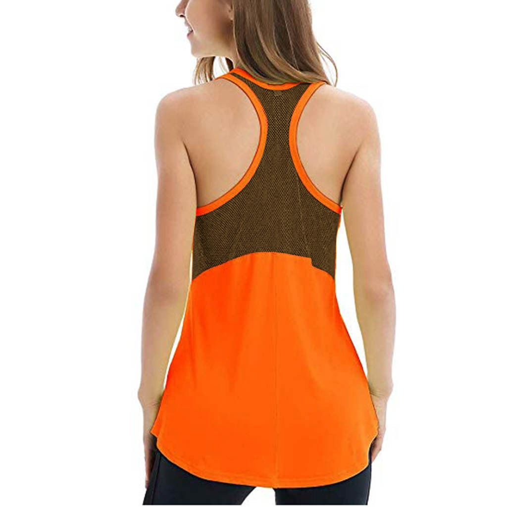Women's Sleeveless Workout Tank Actives Breathable Mesh Backless Tank Yoga Tops