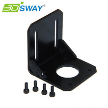 3DSWAY 3D Printer Accessories NEMA 17 Mounting L Bracket 42 Stepper Motor Bracket Steel Motor Mounts Stand with Screws(China (Mainland))