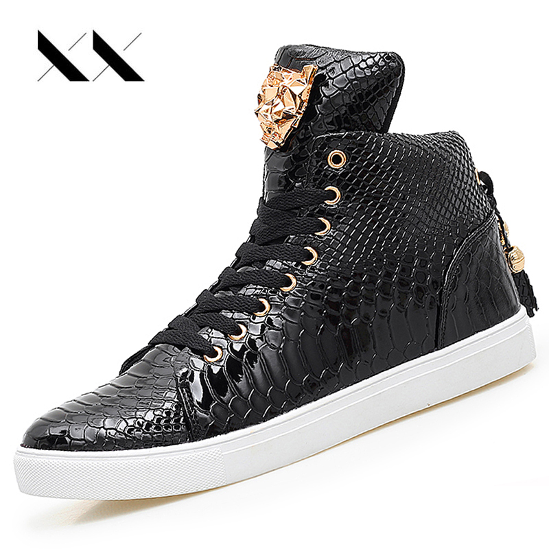 High Top Snake Print Running Shoes