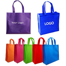 Shopping-Handle-Bag Logo Reusable Custom-Printing with for Trade-Show 1000pcs/Lot 30x40x10cm