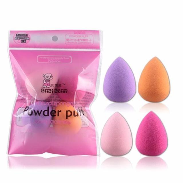 MAANGE Hot Women 4pcs Professional Makeup Sponge Blush Foundation Puff Multi Shape Sponges Makeup High Quality recommend Praise