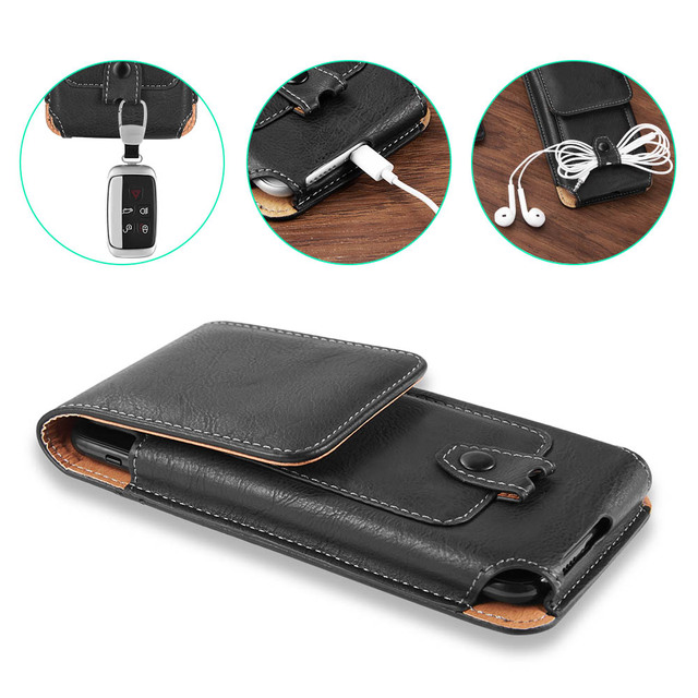 Belt Clip Phone Pouch Case Universal Mobile Phone Holster Waist for xiaomi redmi note 4 4x 5 5a 6 redmi 5 plus 6a mi8 mi9 cover 5