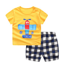 719b2db87fca Children Boys Clothes Baby Boys Girls Cartoon Whale Short Sleeve Tops Shirt+ Shorts Pants Outfits Set Two-Piece Set Kids Clothes