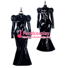 Sissy hizmetçi pvc elbise kilitlenebilir Üniforma cosplay kostüm Tailor-made [G2299]