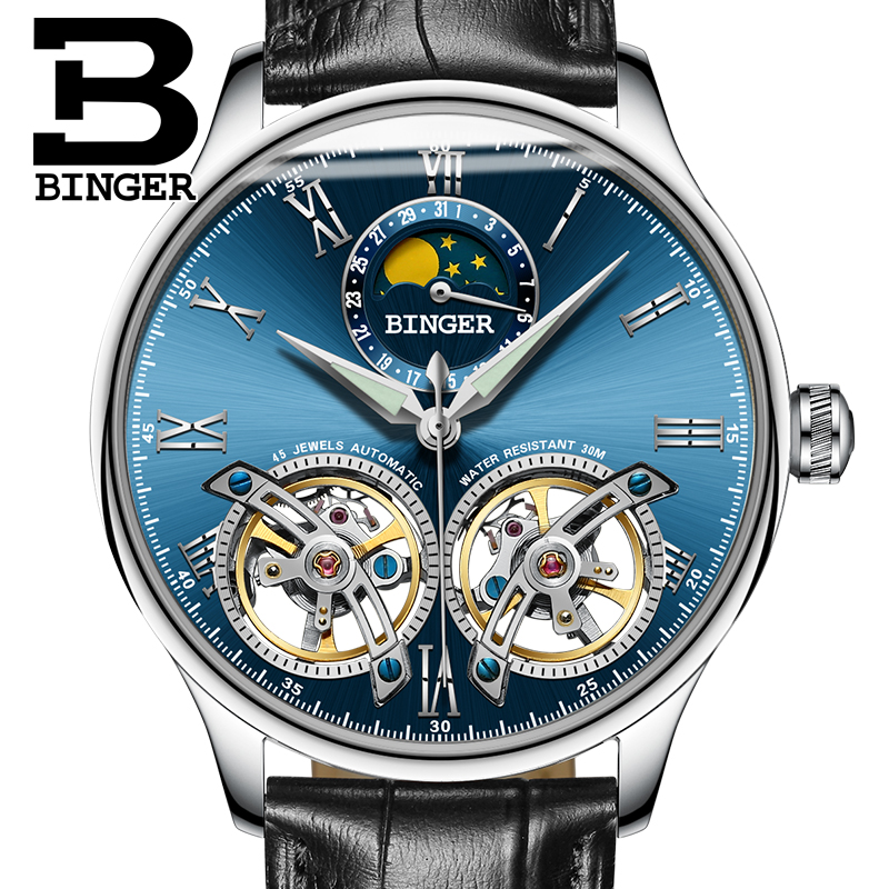 2017 Switzerland Mechanical Men Watches Binger Role Luxury Brand Skeleton Wrist Sapphire Waterproof Watch Men Clock Male8 switzerland mechanical men watches binger luxury brand skeleton wrist waterproof watch men sapphire male reloj hombre b1175g 3