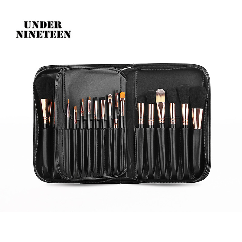 Under Nineteen 2017 Popular Professional Cosmetic Bags For Makeup Brushes PU Women Travel Makeup Organizer Bags Ladies Gifts