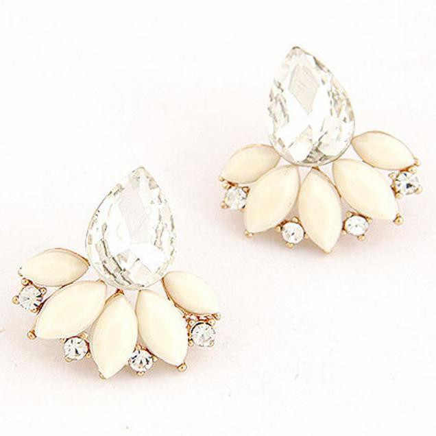Susenstonevinage ювелирные изделия кристалл серьги гвоздики листья сережки современные красивые серьги гвоздики для женщин ювелирные изделия #0412