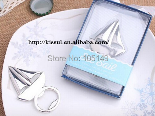 25 pieceslot unique beach themed wedding favor of sailboat bottle opener wedding souvenirs and event party decoration gift in party favors from home