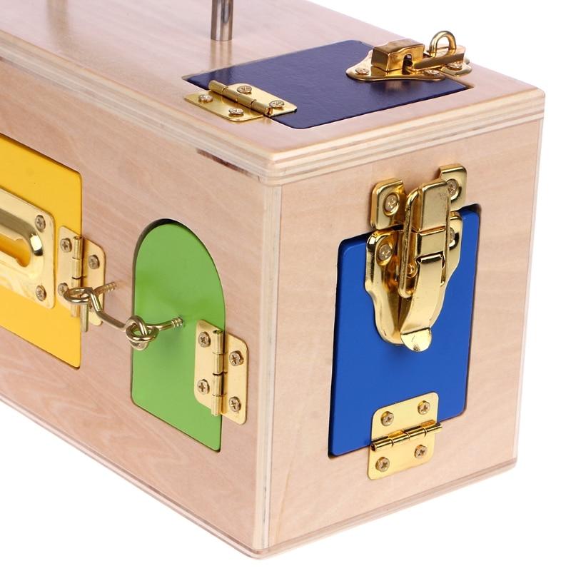 Montessori serrure boîte coloré enfants enfants éducatifs préscolaire formation jouets - 6