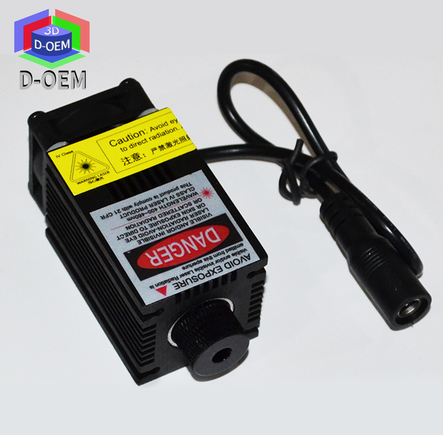 DIY High Power 500mw Laser Focus 445nm Blue Laser Module DC: 12V Adjust Focus for laser cutting and engraving for 3d printer diy 445nm 15w 15000mw blue laser module high power for cnc cutter metal steel engraver engraving machine adjust shiping by dhl