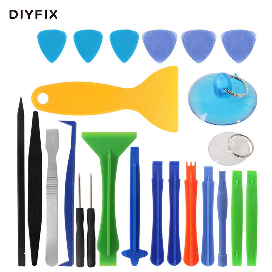 DIYFIX 24 in 1 Smart Cell Mobile Phone Opening Repair Tools Kit Screwdriver Set Disassemble Tools for iPhone iPad Tablet Laptop