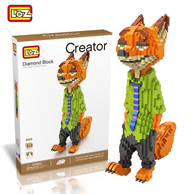 Xizai 8005 Zootopia Nick Red Fox Animal DIY Mini Building Blocks Toy 42cm tall