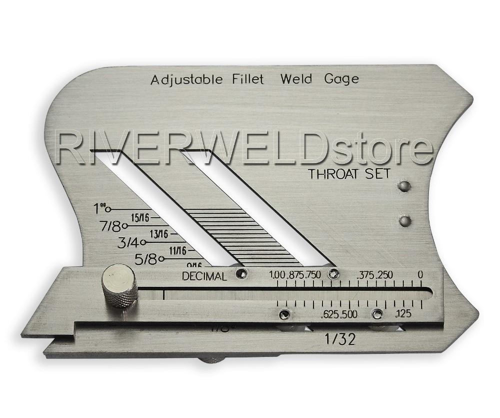 Adjustable Fillet Weld Gauge and Unequal LEG Measurement Feature Weld Inspection