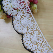 Japanese and Korean lace accessories water soluble hollow high quality cotton black white 8cm wide clothing DIY fabric