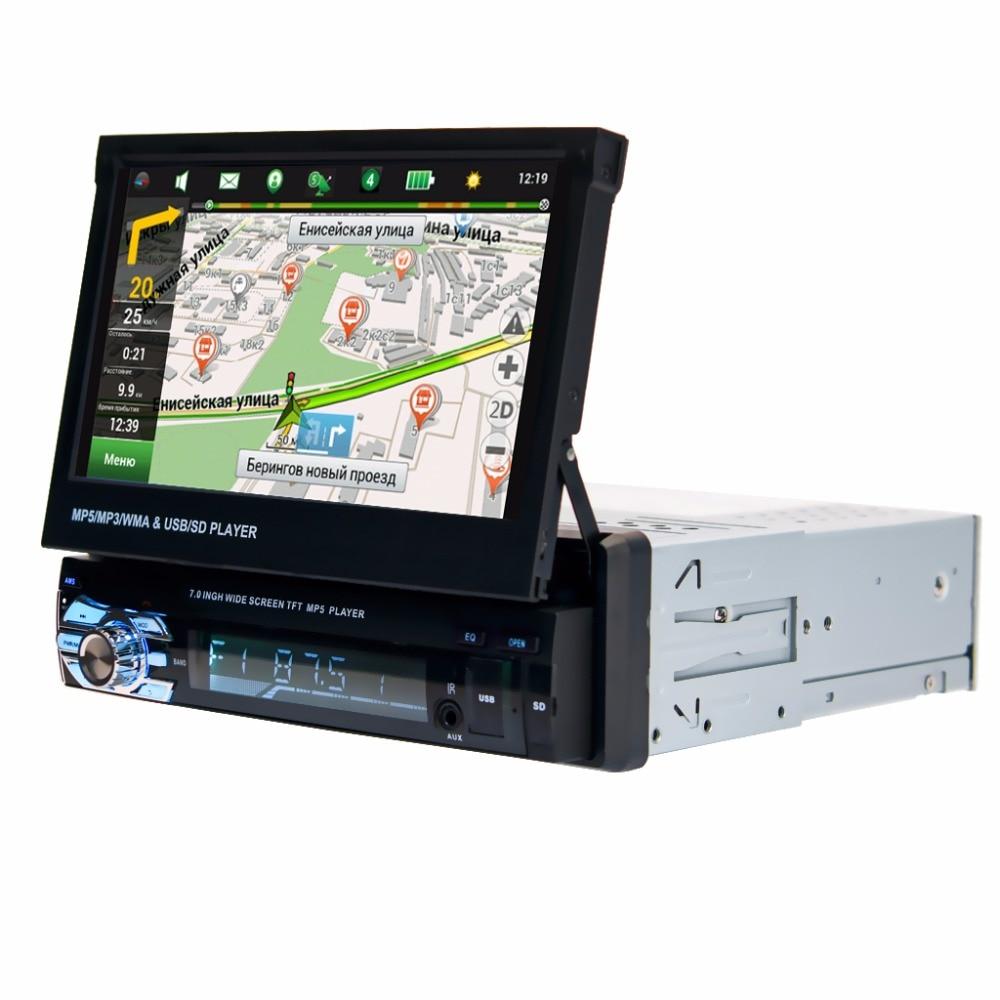 Fonwoon ecran tactile voiture lecteur multimédia GPS ecran rétractable Auto Radio stéréo MP5 lecteur Bluetooth SD AUX DVD Automotivo