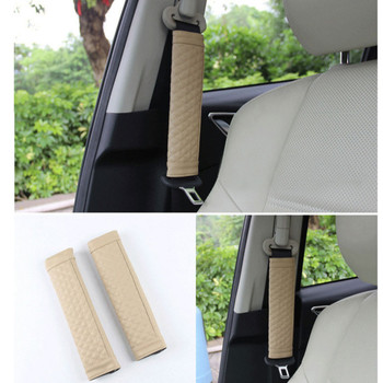 For Peugeot 307 308 407 206 207 3008 406 208 2008 508 408 306 301 106 107 607 4008 Leather seat safety belt Cover Accessories image