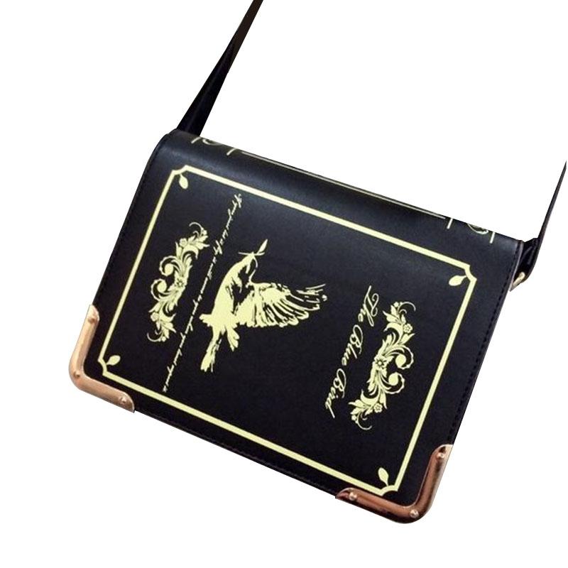 Prix pour Livre en forme de lolita sac femelle gothique sac femmes messenger sacs épaule bandoulière sacs pour femmes sac femme bolsa feminina