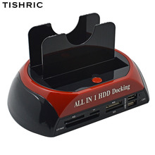 TISHRIC IDE SATA Dual All In 1 Hd/док-станция для жесткого диска/док-станции жесткий диск/диск Hdd 2,5 3,5 ридер Usb EU внешний корпус Корпуса