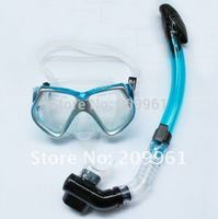 6 colors diving mask goggles full dry snorkel Breathing tube Under Water Swiming set combination free shipping