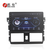 HANG XIAN 10 Quadcore Android 8.1 Car radio for Toyota Vios 2014-2016 car dvd player GPS navigation stereo wifi bluetooth