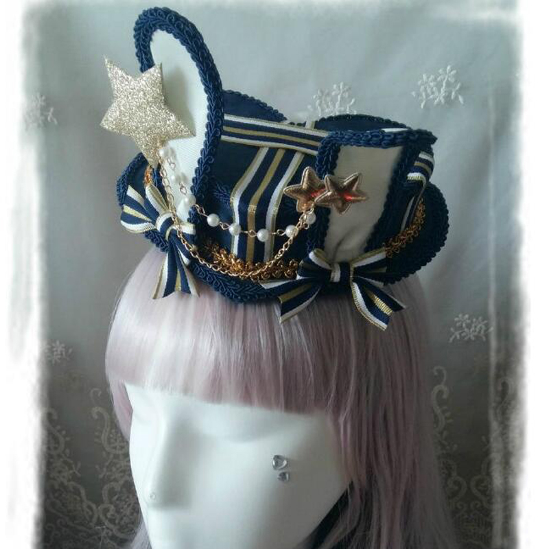 DIY Alice in Wonderland Inspired Rabbit Ear Heart Box Shape Lolita Cosplay Mini Hat