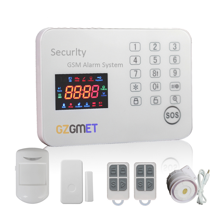 GZGMET CE 120 Wireless Burglar Alarm System Zones Touch Keypad Panel Home Security GSM Smart Phone App Remote Control wireless smoke fire detector for wireless for touch keypad panel wifi gsm home security burglar voice alarm system