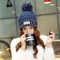 2016 новый высокое качество Skullies шапочки классический плюс бархат шапка женский Cap шапка женщины шапочка головные уборы теплый цвет 6